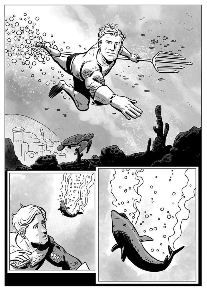 Pagina comic blanco y negro